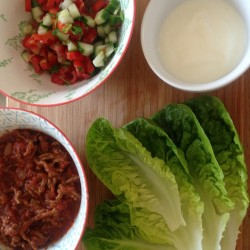 Mexican Mince with Lettuce Wraps and Fresh Salsa